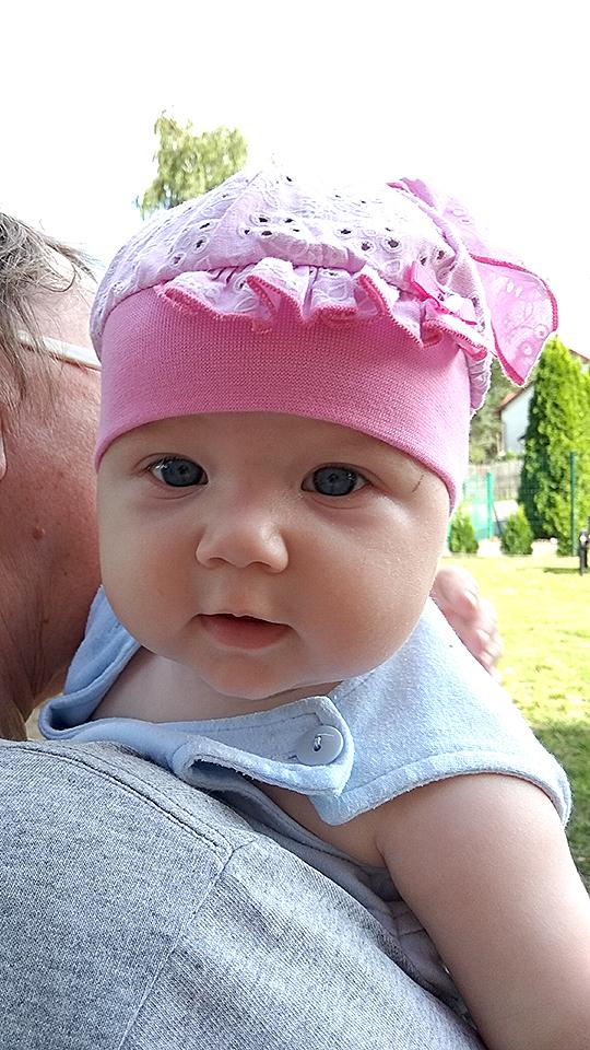 Emilka, ur. 18 kwietnia 2018 r. Waga 3320 g, wzrost 56 cm. Bolszewo (woj. pomorskie)
